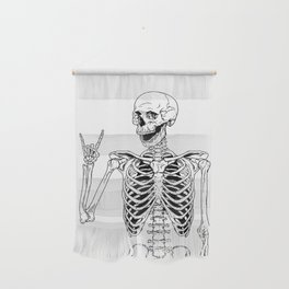 Rock and Roll Skeleton Wall Hanging