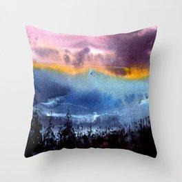 Blured sunset Throw Pillow