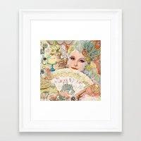 marie antoinette Framed Art Prints featuring Marie Antoinette by Jenndalyn