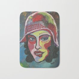 Woman with hat Bath Mat