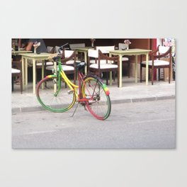 One Love Bicycle  Canvas Print