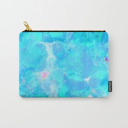 Wild And Wacky Blobby Design (Magical Cyan) Carry-All Pouch