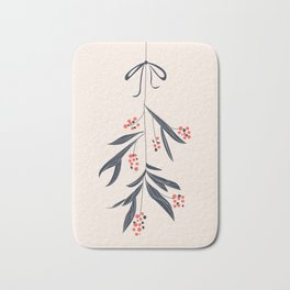 Mistletoe and love Bath Mat