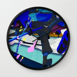 Death Template Wall Clock