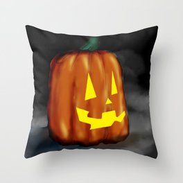 Smiling Pumpkin Throw Pillow