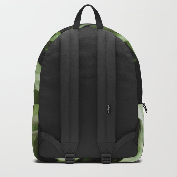 Tropical leaves. Pattern. Backpack