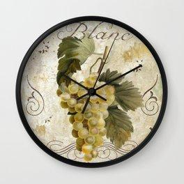 Tuscan Table Blanc Wall Clock