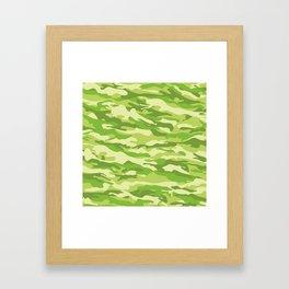 Green Kelp Camo Pattern Framed Art Print