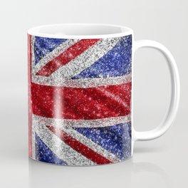 Glitter Union Jack Flag UK Coffee Mug