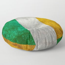 Republic of Ireland Flag, Vintage grungy Floor Pillow