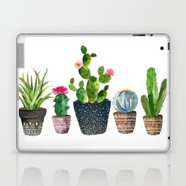 Watercolor cactus trio | hand painted cactus print Laptop & iPad Skin