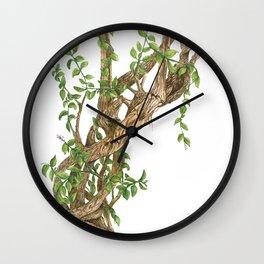 Twisting woods Wall Clock