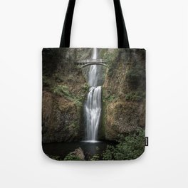 Iconic Multnomah Falls in the Columbia River Gorge of Oregon Tote Bag