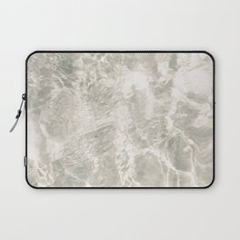 Clear water | beach fine art photography | sea wave and sand Laptop Sleeve