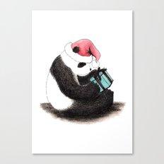 Christmas Panda Canvas Print