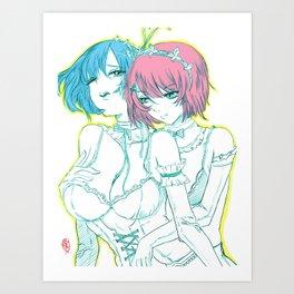 Rem and Ram Re-Zero 01 Art Print