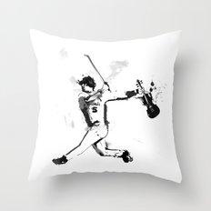 Baseball Violin Throw Pillow