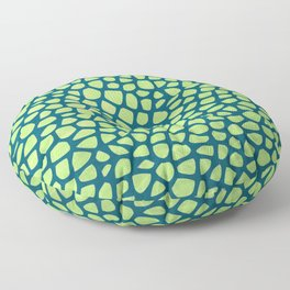 Abstract Leaves Pattern Floor Pillow