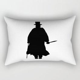 Jack the Ripper Silhouette Rectangular Pillow