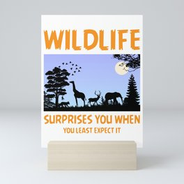 Wildlife Surprises You When You Least Expect It Mini Art Print