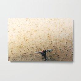 Surfer Minimalist Print Metal Print