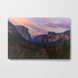 Yosemite Sunset Metal Print