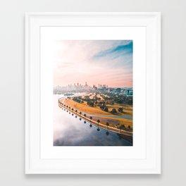 Melbourne in the distance Framed Art Print