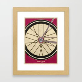 Single Speed Bicycle Framed Art Print