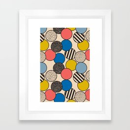Memphis Inspired Pattern 5 Framed Art Print