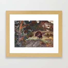 BRUNO LILJEFORS, CAPERCAILLIE S COURTING. Framed Art Print