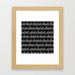 Little City // Black Framed Art Print