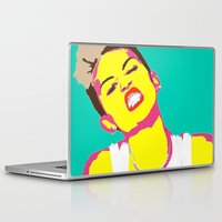 miley cyrus Laptop & iPad Skins featuring Miley Cyrus by Becky Rosen