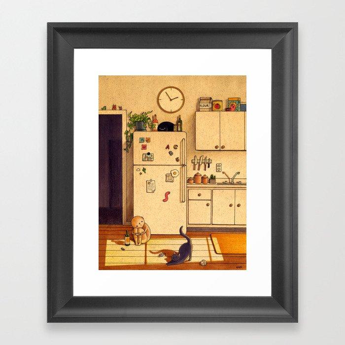 Kitchen Floor Gerahmter Kunstdruck