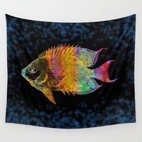 fish Wall Tapestries featuring  Fish by Vitta