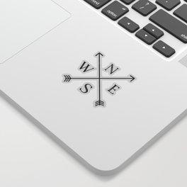 Black and White Compass Sticker