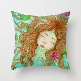 Sometimes it's Hard to Tell the Water From My Tears Throw Pillow