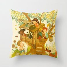 Our House In the Woods Throw Pillow