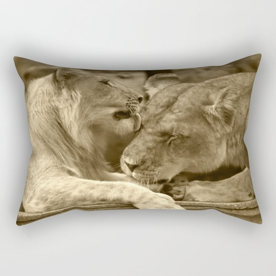 Mother and son II Rectangular Pillow