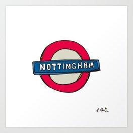 tube sign Art Print
