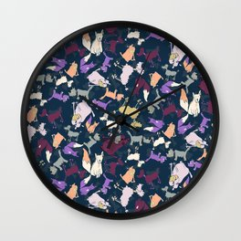 Wonky dogs Wall Clock