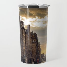 Royal Mile Sunrise in Edinburgh, Scotland Travel Mug