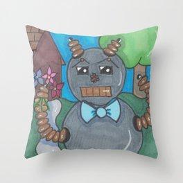 First Date Jitters Bot Throw Pillow