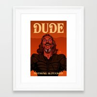 the dude Framed Art Prints featuring Dude by Leif Jones