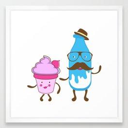 Mister milk and  miss cupcake Framed Art Print