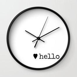 A Warm Hello Wall Clock