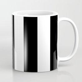 Stripes (Parallel Lines) - Black White Coffee Mug