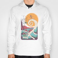 typo Hoodies featuring Surf Before Christmas by Victor Vercesi