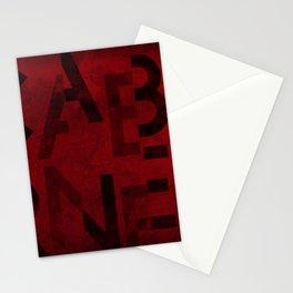 Cabernet Wine Typography Stationery Cards