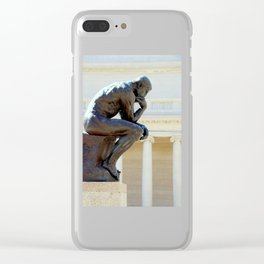 I Am, I Think... Clear iPhone Case