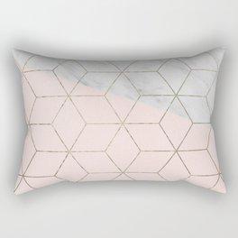 Florence dreams - marble geometric Rectangular Pillow